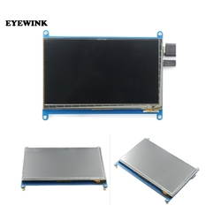 Pantalla táctil capacitiva LCD de 7 pulgadas para Raspberry pi 1024*600 7 pulgadas, el intercaa HDMI admite varios sistemas