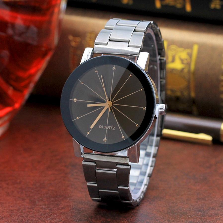 Роскошные брендовые уникальные часы для влюбленных пар с арабскими номерами Женские кварцевые наручные часы из нержавеющей стали с сеткой Reloj Masculino - Цвет: BKW