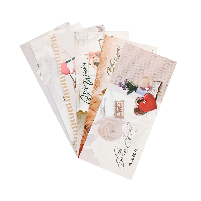 50sets/lot Deep Blessings Of Exquisite Flowers Series One Envelope With One Postcard Each Set Fold Cards