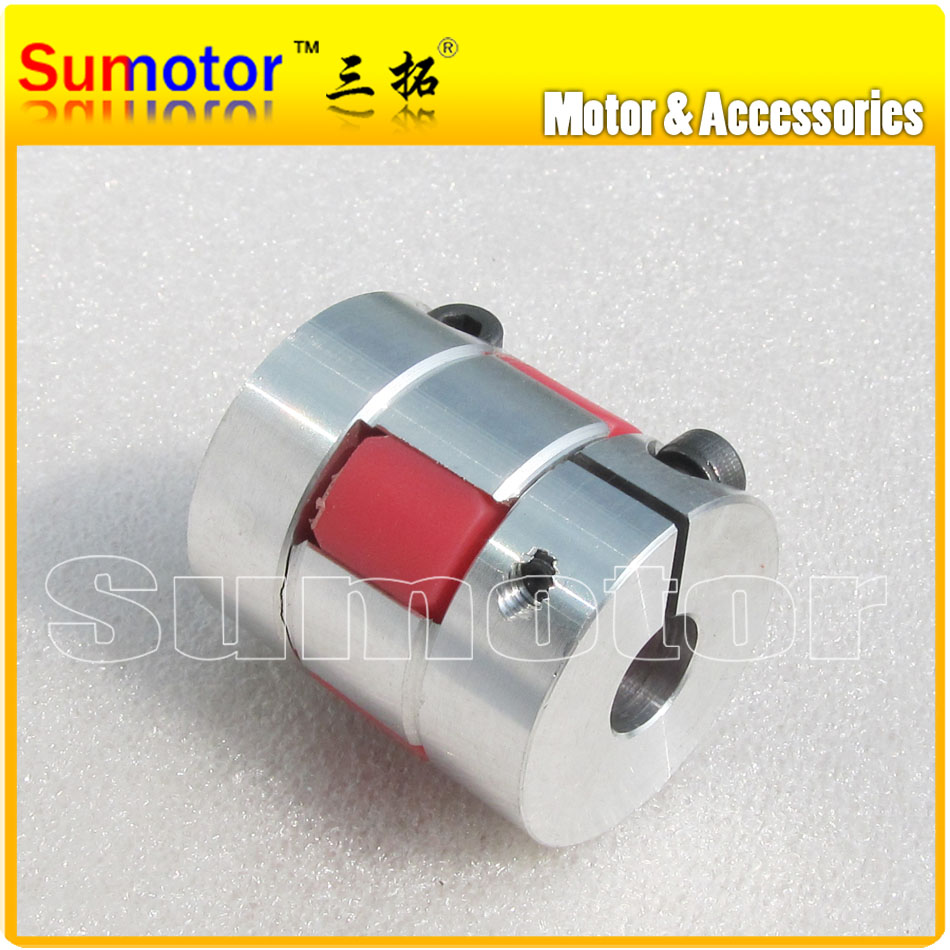 OD 30mm L 35mm, Bore 6mm 7mm 8mm 9mm 9.53mm 10mm 11mm 12mm 12.7mm 14mm 15mm, Flexible Jaw/Spider Shaft Coupling CNC parts cnc plum shaft flexible jaw spider coupler 12mm 14mm motor coupling 12mm to 14mm dia 30mm length 35mm
