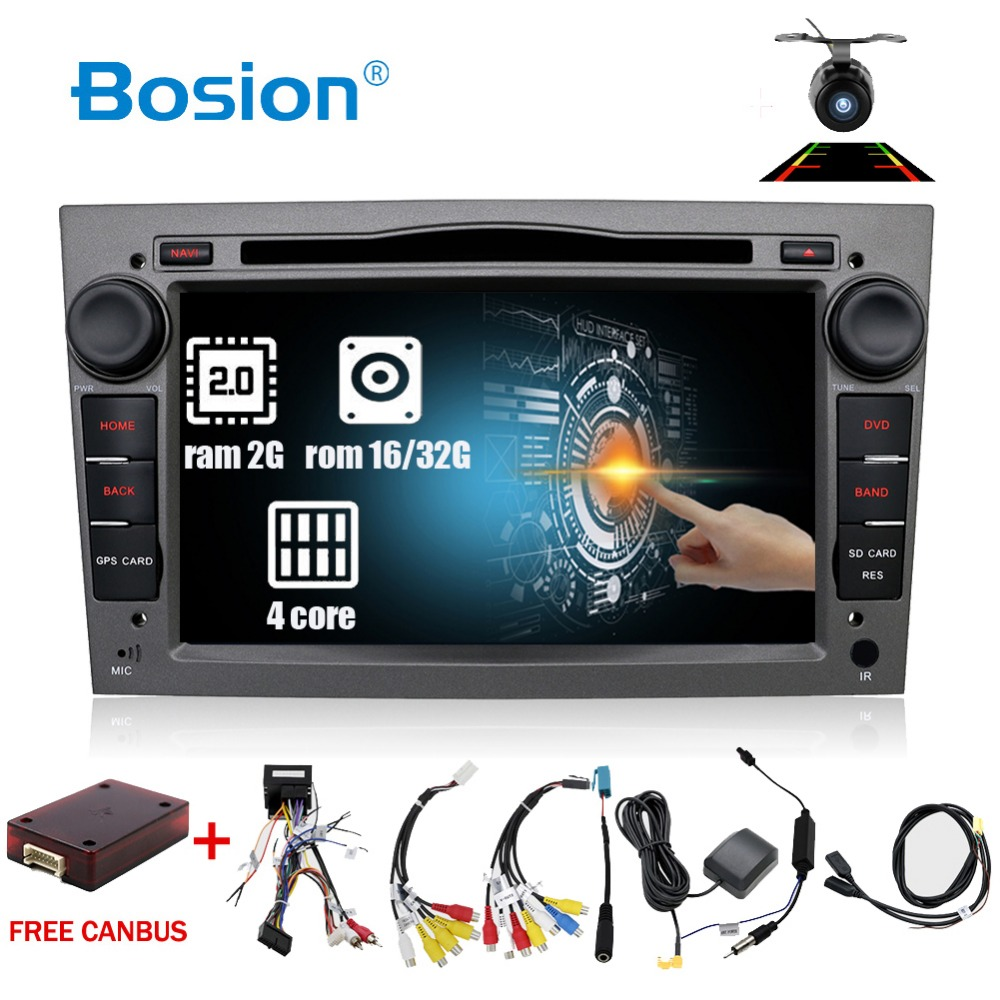 Android 7.1 2Din dvd de voiture Autoradio Navigation WIFI 4G DAB + OBD2 Pour Vauxhall Opel Astra H G Vectra Antara zafira Corsa Multimédia