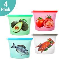 1000 мл многоразовые силиконовые вакуумные пакеты для хранения продуктов Ziplock пакеты для упаковки свежих продуктов обертывания кухонные контейнеры для овощей и фруктов