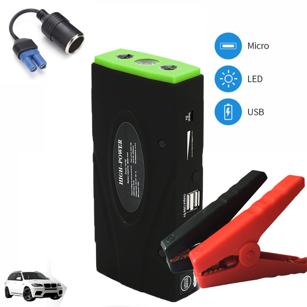Portable Car Jump Starter 38000mah Power Bank Emergency Auto Battery Booster Pack Vehicle Jump Starter Booster Buster Led Light portable car jump starter 50800mah petrol car 12v emergency auto battery booster pack vehicle jump starter phone power bank