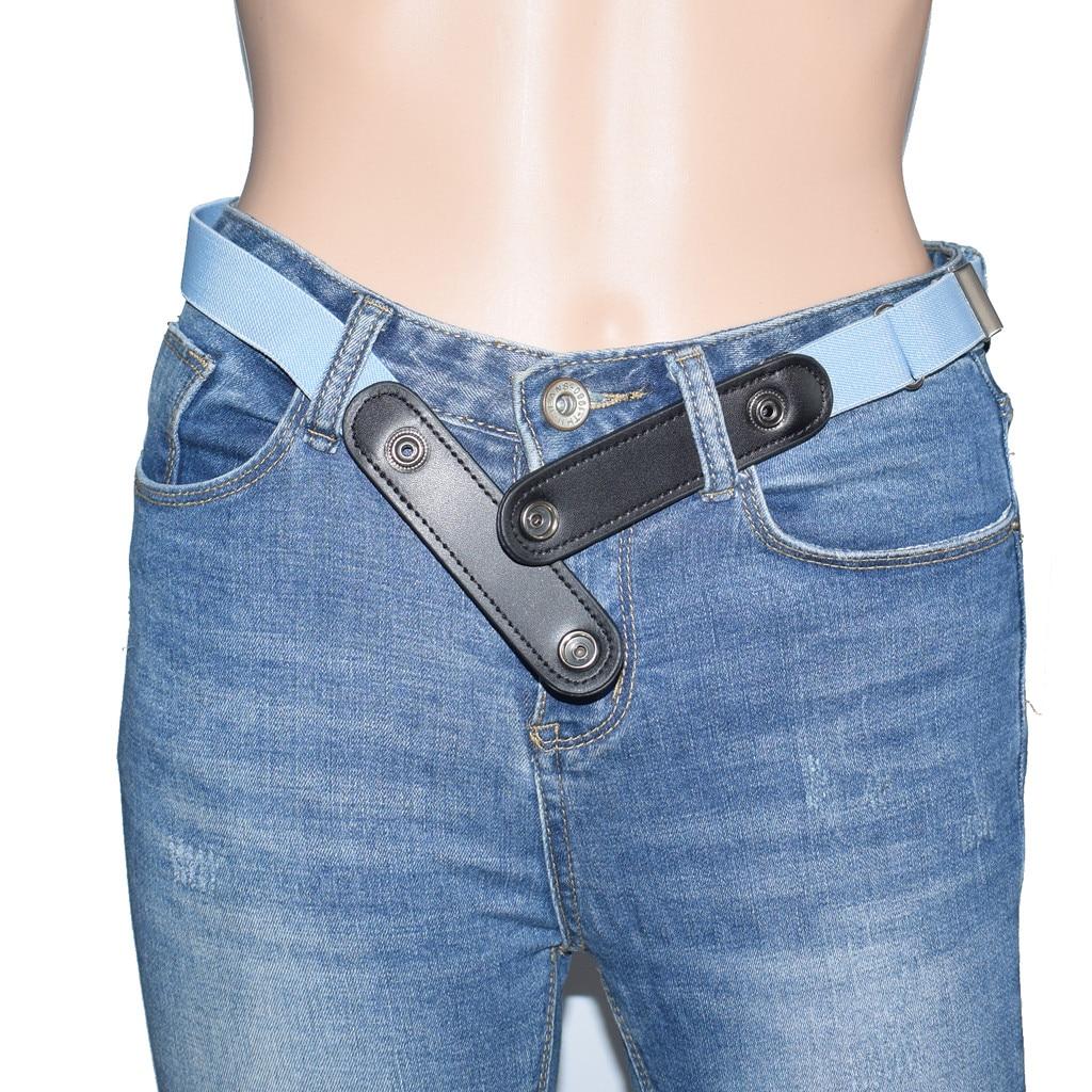 Buckle-Free Belt For Jean Pants No Buckle Invisible Stretch Elastic Waist Belt For Adult/Children ,No Bulge,No Hassle Waist Belt
