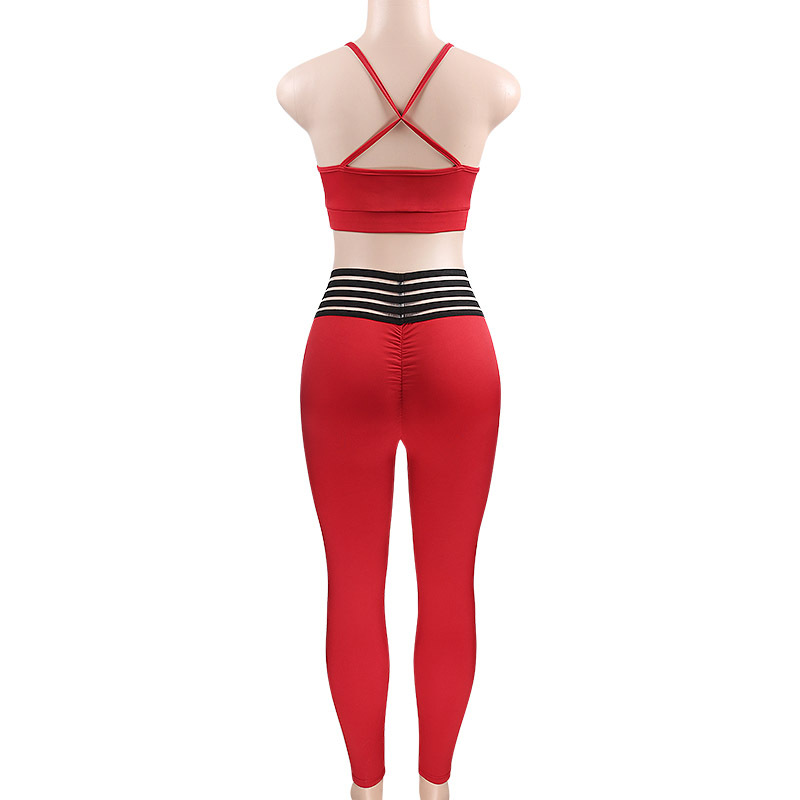 94698cff383ca GXQIL Gym Sport Suit Woman Sportswear Red Workout Clothes Tracksuit Women Sport  Costume Female Fitness Clothing Yoga Legging Set-in Yoga Sets from Sports  ...