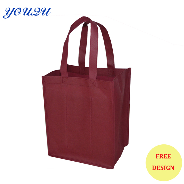 US $397 58 |Six bottles non woven wine bag wine tote bag, non woven wine  holder+ Low price+escrow accept-in Shopping Bags from Luggage & Bags on