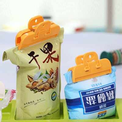 BF040 Home Dried Milk Bag Sealed Clips Waterproof Storage Package Sealing Clamp Bag Clips 2pcs/set 10*5*2.5cm