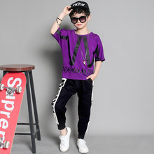 2019 New Boy Clothes Sets Kids Sport Suits Summer Tops Pants Spring Children Clothing Sets Boutique Kids Clothing Set For Teens(China)