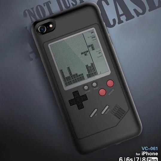 Inizeal Gameboy Tetris-spiel Fall Phone Cases für iPhone 6 6 s 7 7 plus 8 plus X Spielen Roman Spiel Abdeckung Schützen Geschenk Ohne batterie