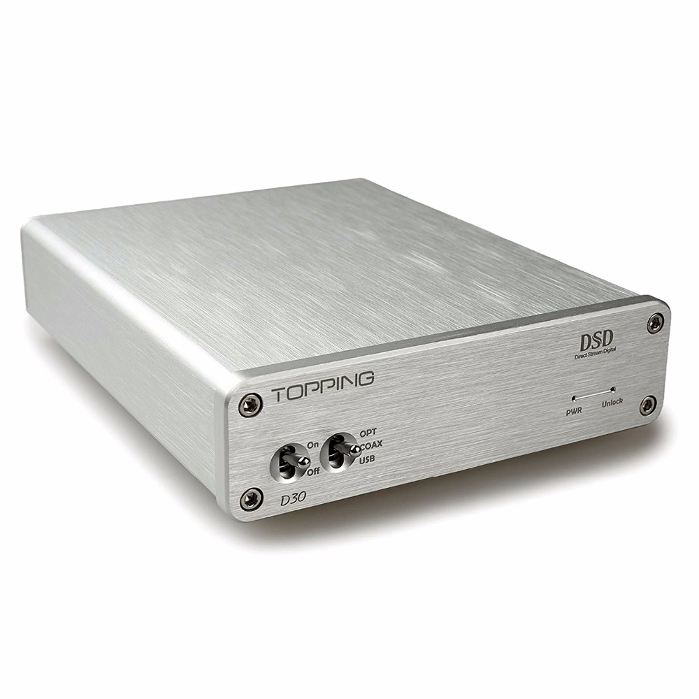 TOPPING D30 Audio Decoder USB Coaxial Optical Fiber 24bit/192kHz S/PDIF USB DAC support DSD64 and DSD128