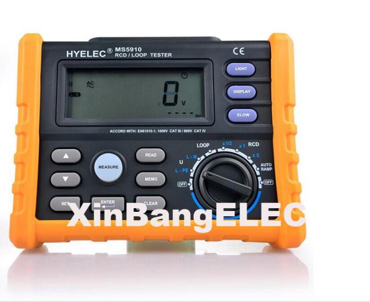 Circuit Breaker RCD Loop Tester Meter Trip-out Time & Current V Freq USB GFCI Loop Resistance Testing ut581 digital rcd tester meter leakage circuit breaker