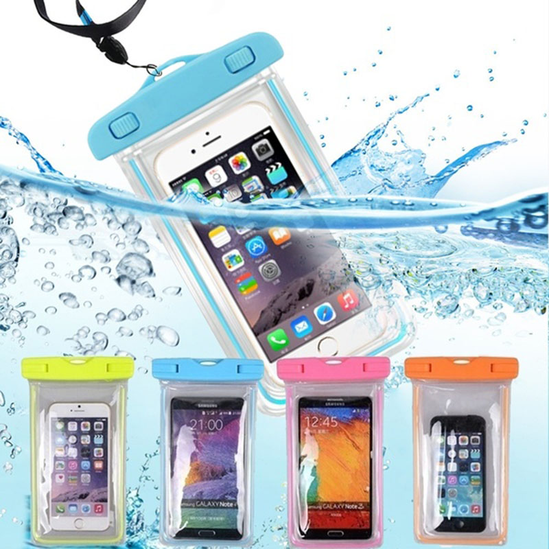 Waterproof Phone Pouch Drift Diving Swimming Bag Underwater Dry Bag Case Cover For Phone Water Sports Beach Pool Skiing 6 inch image