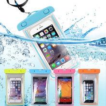Pochette étanche pour téléphone dérive plongée sac de natation sous-marin sac sec housse pour téléphone Sports nautiques plage piscine ski 6 pouces