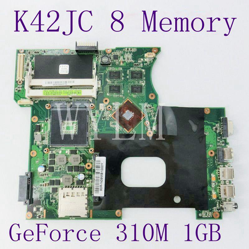 где купить K42JC With 8 Memory GeForce 310M 1GB N11M-GE2-S-B1 Mainboard For ASUS X42J A42J K42J Laptop Motherboard REV 2.0 Fully Tested дешево