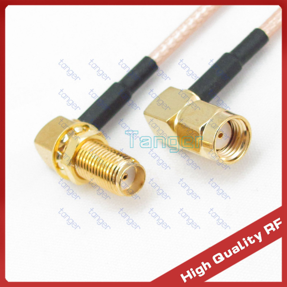 3feet Double right angle 90 degree SMA female jack to RP-SMA male plug connector 100cm RG316 RF Coaxial Pigtail Jumper cable rp sma female to y type 2x ip 9 ms156 male splitter combiner cable pigtail rg316 one sma point 2 ms156 connector for lte yota