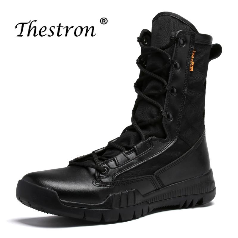 Chaussures Homme Moto Hommes Militaires Pour Se Résistant Portable Combat Mode Hei Travail zong À Confortable L'usure Bottes Non slip Se De BCoerdWx