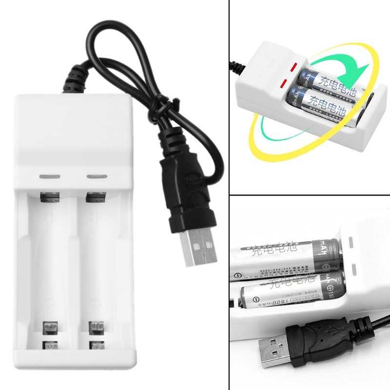 ذكي 2 فتحات 1.2 V USB شاحن ل قابلة للشحن نيمه البلى AA AAA بطارية