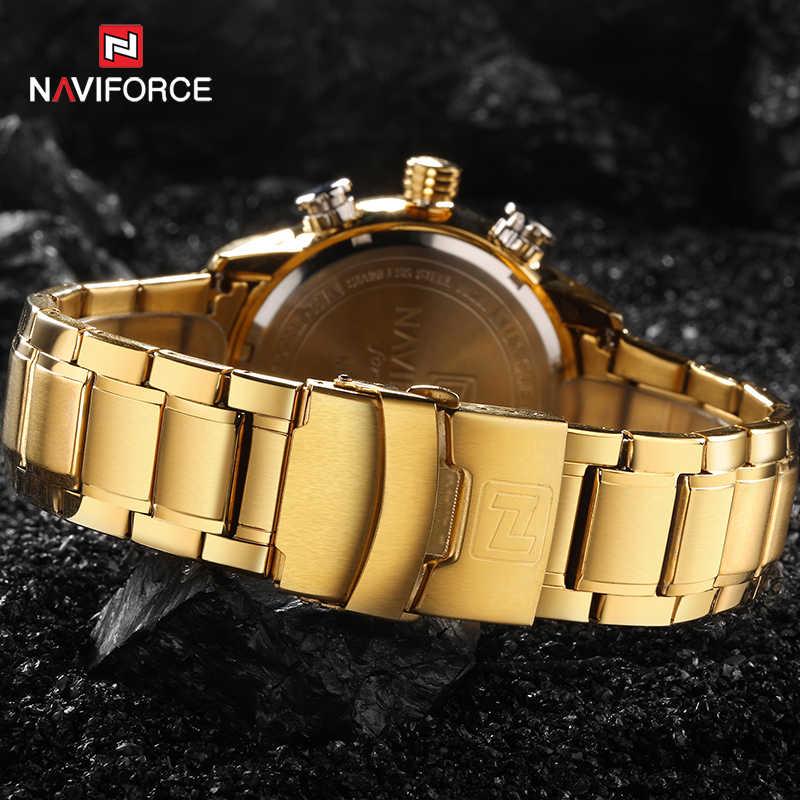 NAVIFORCE hommes horloge or montre hommes numérique LED Sport montre-bracelet hommes Quartz double affichage étanche montres Relogio Masculino
