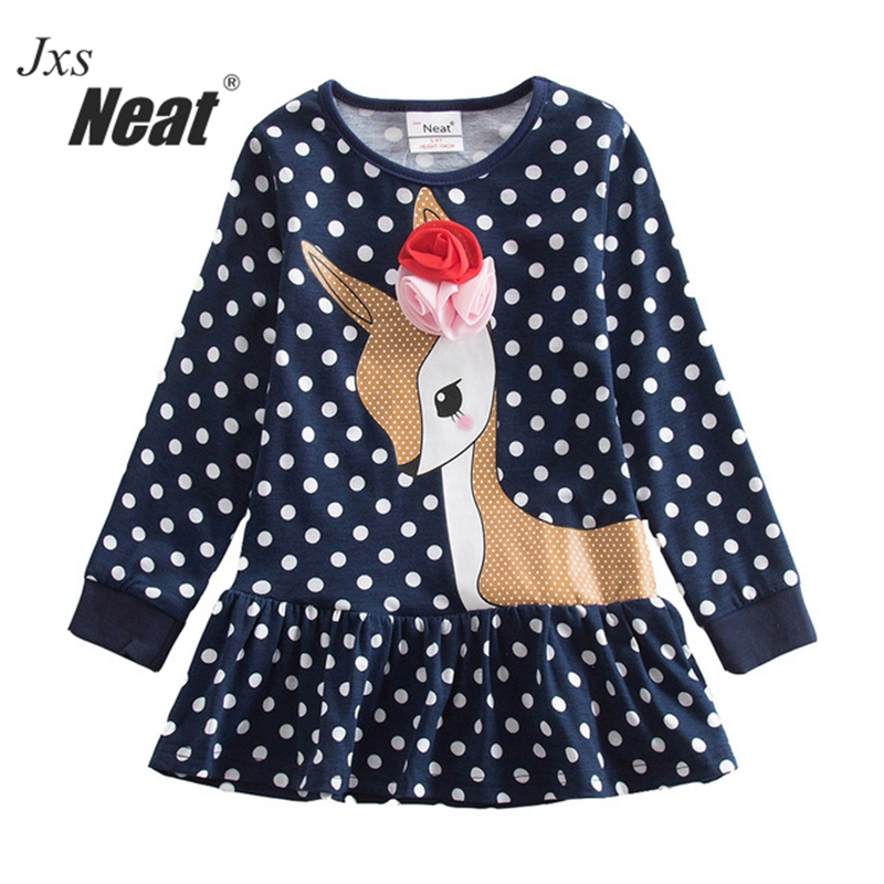 Neat Retail Baby girl clothes Lovely dresses kids clothes girl party dress long sleeve girl clothes vestidos infantil LH3660 neat brand retail baby girl clothes lovely dresses kids clothes girl party dress long sleeve 100