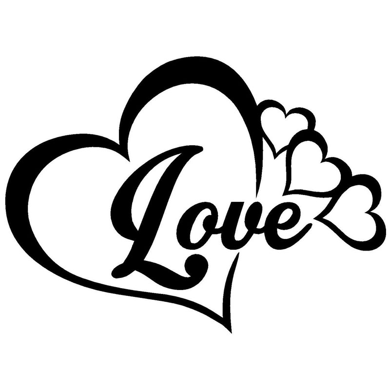 16x116cm love heart symbol vinyl decals family infinity