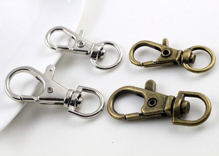 10 Sets Silver Plated Brass 12x7mm Twist Hook /& Eye Clasps