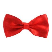 Corbata de lazo de poliéster liso de moda para hombres y mujeres corbatas de fiesta General de mariposa, 1000 piezas