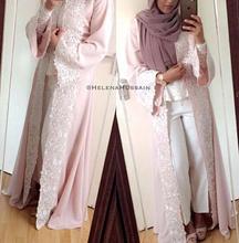 2017 muslimischen Abendkleider Jacken Kundenauftrag