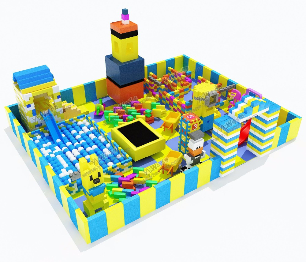 HOT sales children block toys playground kids environmental protection indoor big EPP block parks YLW-EPP0321 environmental pu software footlog with wooden frame and sponge kids soft toy plant children playground set ylw ina171019