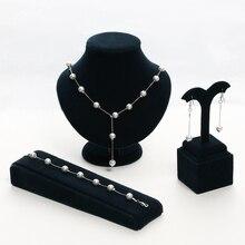 2 Color New Brand Jewellery Sweet Elegant Women Imitation Pearl Jewelry Sets Sim
