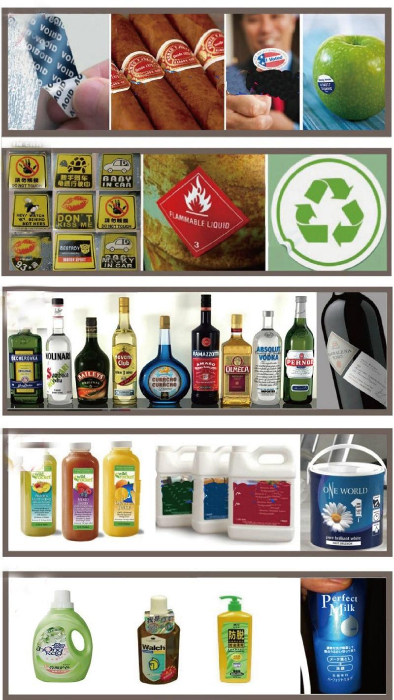 Materiais de vinil personalizado impressão da etiqueta