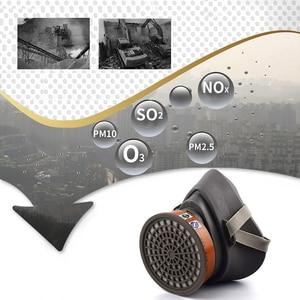 Image 5 - Респиратор для распыления красок, противотуманная маска с фильтрами твердых частиц и активированным углем