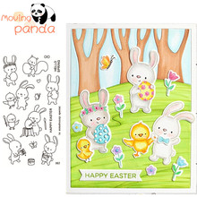 2019 Easter Egg Hunt Metal Cutting Dies and Clear Stamps for Scrapbooking DIY Card Making Crafts Stencil