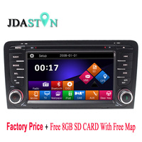 JDASTON 2Din Car DVD Player for Audi A3 S3 2003 2004 2005 2006 2007 2008 2011 With Radio Stereo GPS Navi Map SD Card USB CanBus