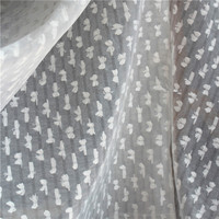 Lace39 100*145cm White Double Organza Butterfly Fabric Wedding Cloth Mesh Fabric Wedding Dress Fabric The Curtain Clothes