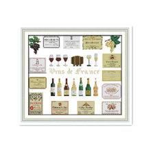 11CT 14CT Print Counting Cross Stitch Set Delicious Wine Hand Sewing Live Wine Furniture Decoration Accessories Embroidery(China)