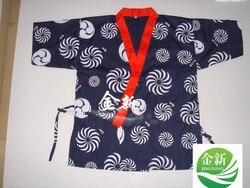 Darmowa wysyłka japoński restauracja Bar ubrania Sushi fartuch szefa kuchni kurtki jednolite  3 rozmiar dostępny