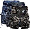 Pantalones cortos Bermudas Para Hombre Corto de Camuflaje de Impresión Hombres del Homme Multi-Bolsillo Pantalones Cortos Ocio Loose DWEF