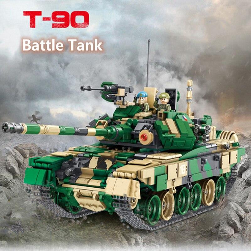 Assemblage créatif blocs de construction 1773 pièces artificiel EduactionToys T90 réservoir de bataille principal militaire modèle garçon cadeau d'anniversaire T