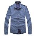 Camisa ZILLI hombres de manga larga 2015 derecho comercial para hombre impresión de algodón de moda inglaterra Business alta calidad envío gratis