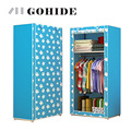 Gohide DIY Folding Cloth Wardrobe Wardrobe Simple Roller Shutter Assembly Wardrobe Home Furnishing Decoration