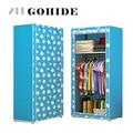 Gohide DIY Folding Cloth Wardrobe Wardrobe Simple Roller Shutter Assembly Wardrobe Home Furnishing Decoration