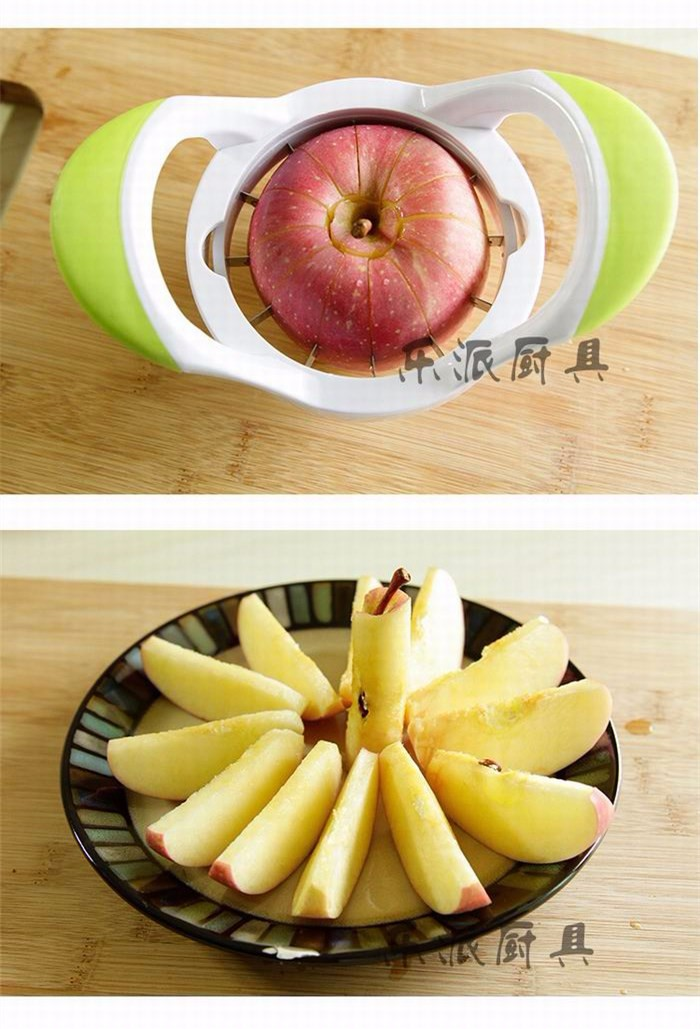High-quality kitchen creative stainless steel fruit slicer cut apple fruit device Pear Muskmelon cutter separator free shipping 3