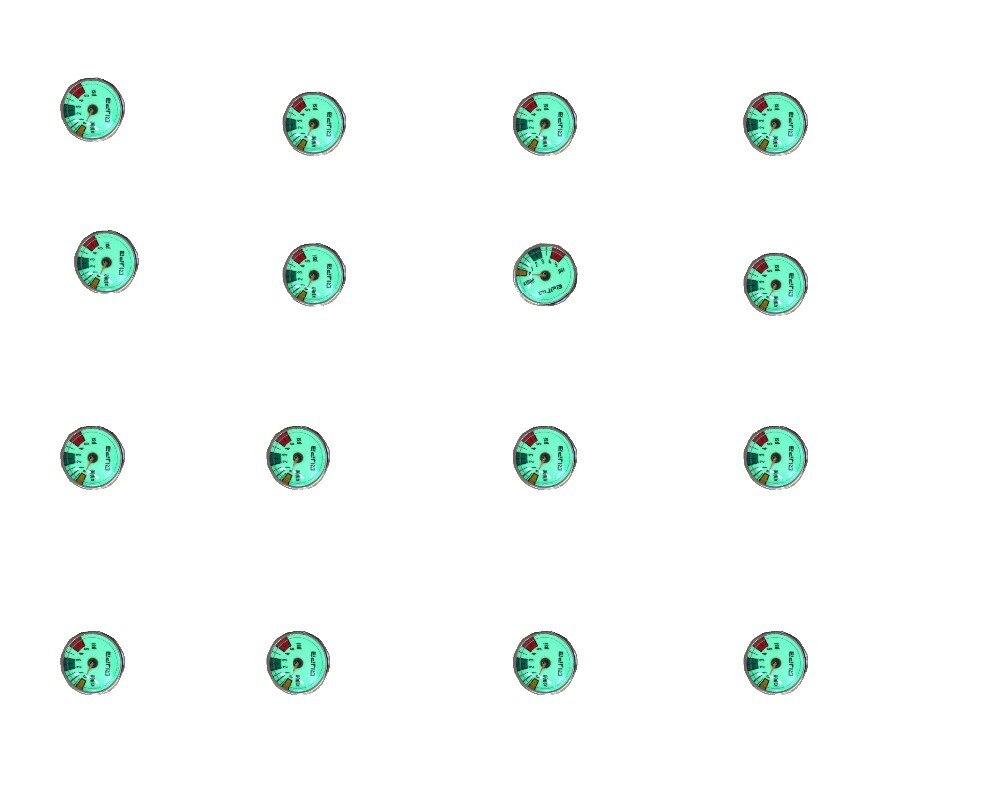 FREE SHIPPING  PCP Paint Ball High Pressure Luminous Mini Gauge For Tank/Marker 32mm 2PCS=1 Lot