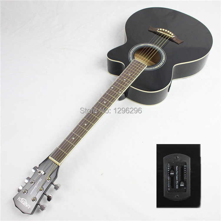 free shipping 39inch electric guitar black guitar eq electric guitar about 98 cm in guitar from. Black Bedroom Furniture Sets. Home Design Ideas