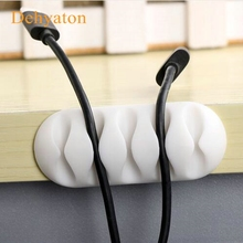 Dehyaton Soft Silicone Magnetic Wire Cable Organizer Key Cord Earphone Storage Holder Clips Cable Winder For