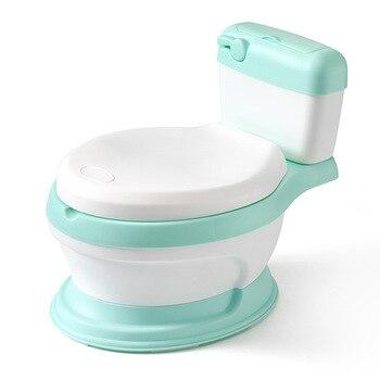 Potty Training Toilet   New Baby Infant Potty Seat Simulation Children Bedpan Portable Toilet Training Urinal Kids Potties Ergonomic Backrest Pot Design