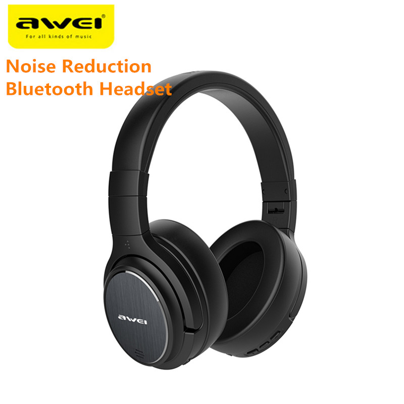 Awei A950BL ANC Noise Reduction Bluetooth Headset Wireless Headband Over-ear Headphone with Mic For Gaming Sports