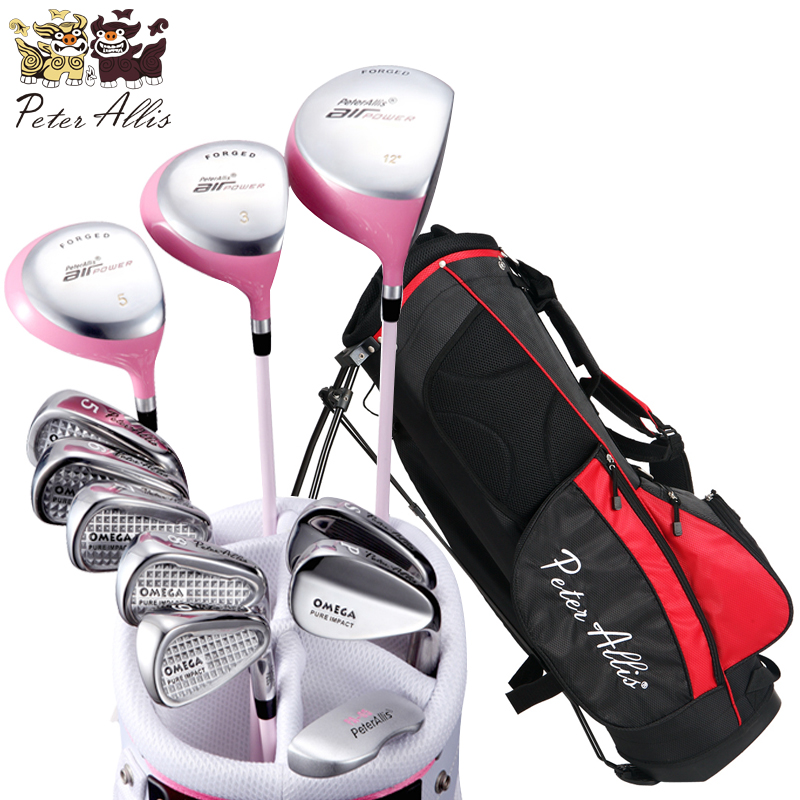 Brand  Peter Allis .11 pieces Ladies golf clubs complete golf sets. Women golf clubs full set top quality dragon golf club set bag sport golf clubs bag high grade pu golf bags practice golf sets 3 colors are available