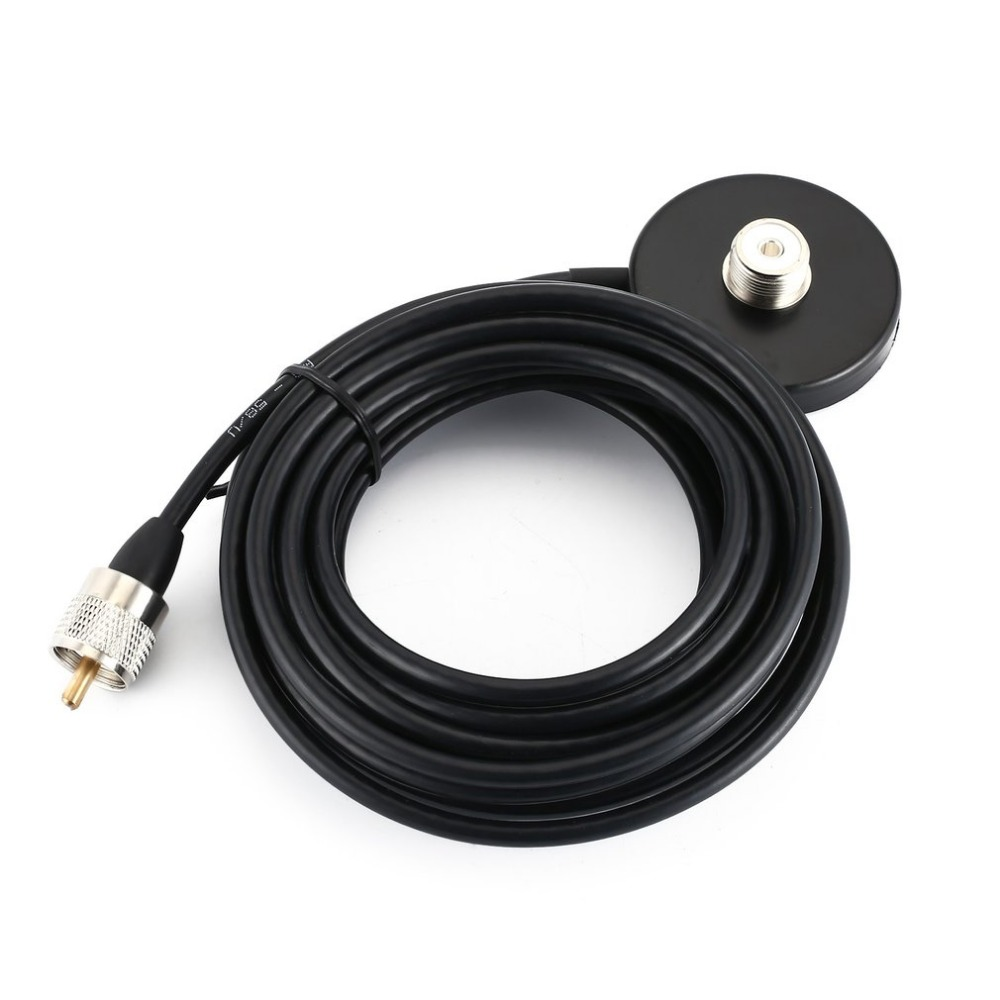 Mobile Car Antenna Magnetic Roof Mount Base With 5m RG-58 A/U Coaxial Cable UHF Male Connector