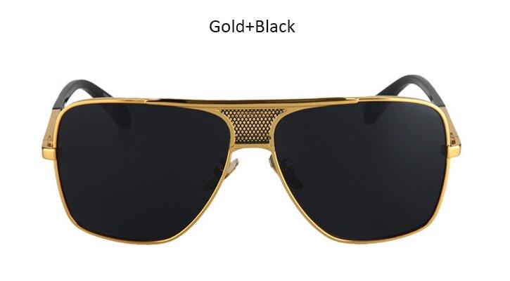 2c7107301a5 HapiGOO Men Vintage Oversized Sunglasses 2016 New Fashion Man Brand  Designer Big Metal Frame Square Sunglasses for Women Eyewear-in Sunglasses  from Apparel ...